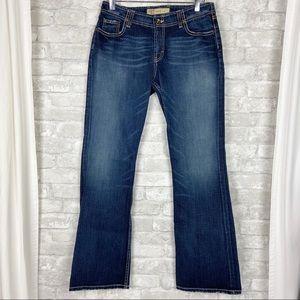 BKE Denim Wendi Stretch Bootcut Flap Pocket Jeans